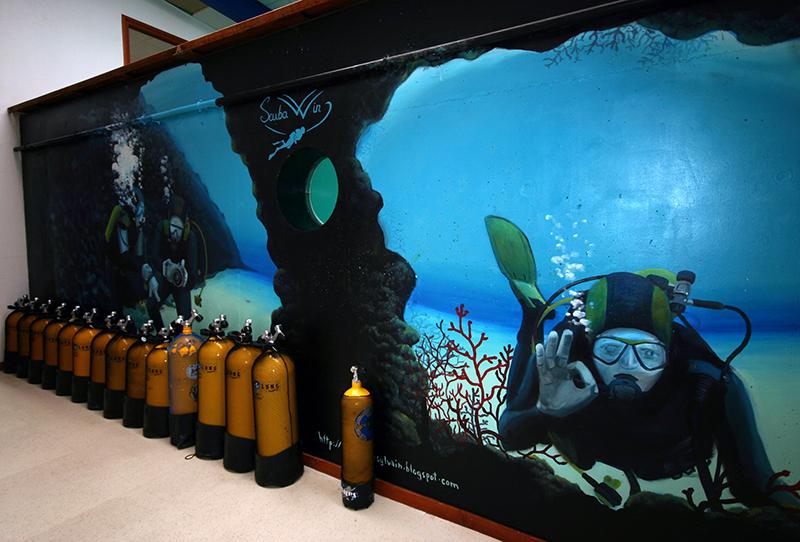 Bassin du magasin scubawind